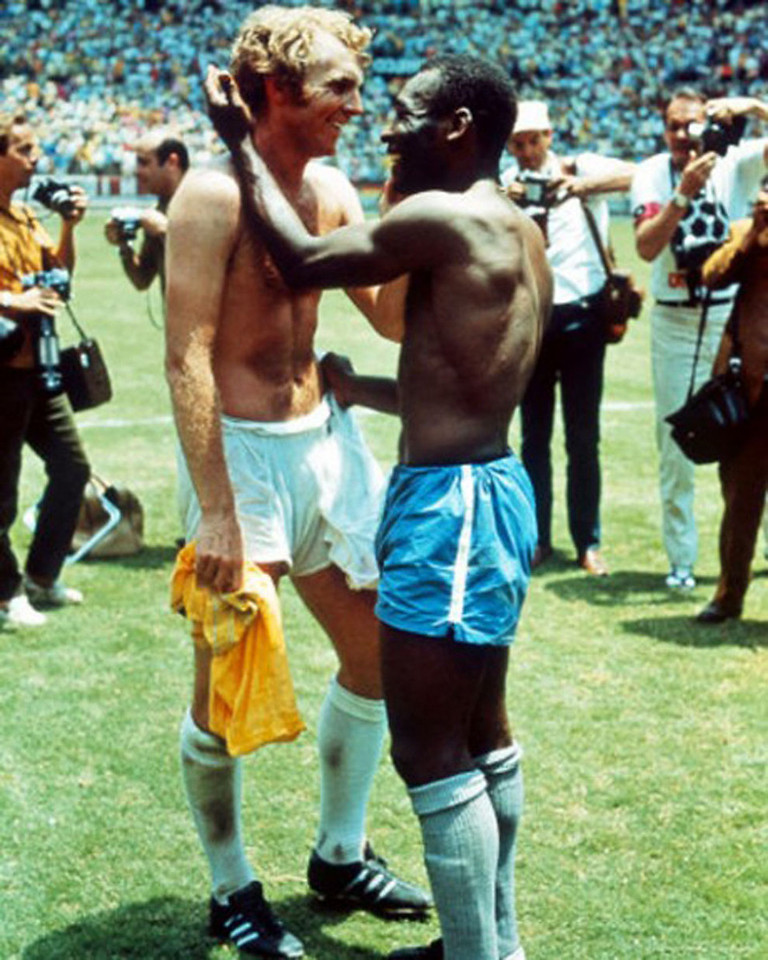 Pele and Bobby Moore - 1970
